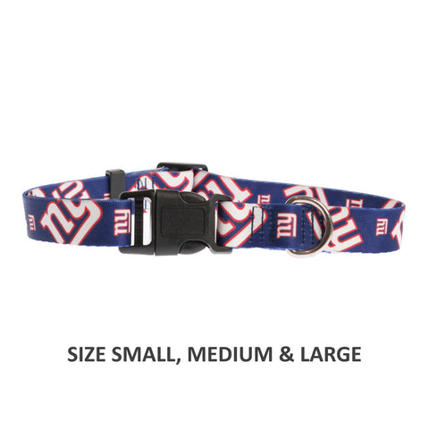New York Giants Pet Nylon Collar