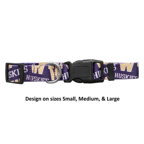Washington Huskies Pet Nylon Collar