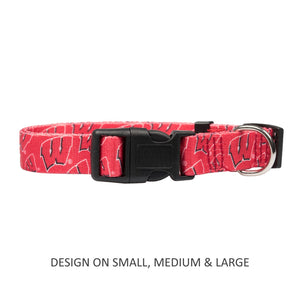 Wisconsin Badgers Pet Nylon Collar