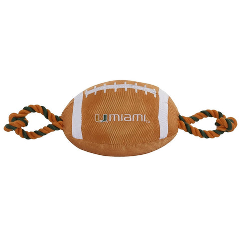 Miami Hurricanes Pet Nylon Football