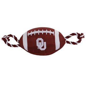 Oklahoma Sooners Pet Nylon Football
