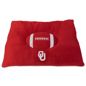 Oklahoma Sooners Pet Pillow Bed
