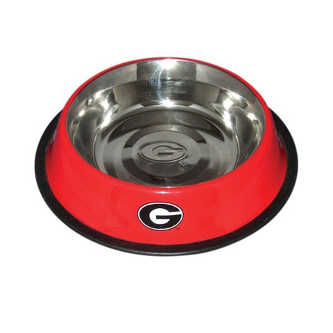 Georgia Bulldogs Stainless Steel Pet Bowl