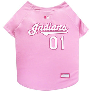 Cleveland Indians Pink Pet Jersey