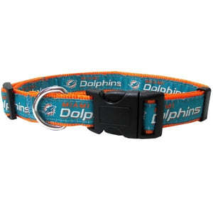 Miami Dolphins Pet Collar by Pets First