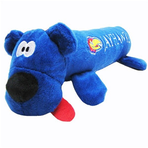 Kansas Jayhawks Plush Tube Pet Toy