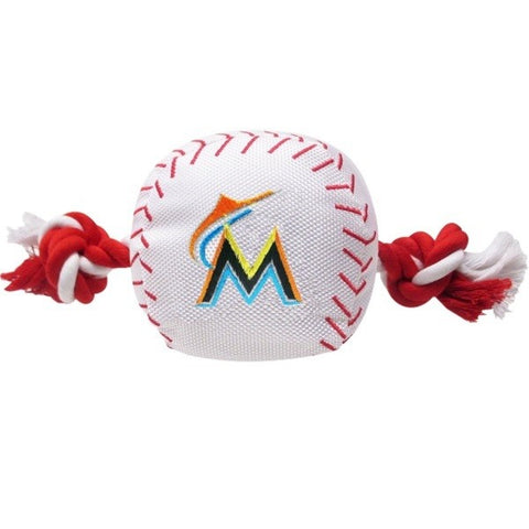 Miami Marlins Nylon Baseball Rope Tug Toy