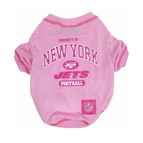 New York Jets Pink Dog T-Shirt
