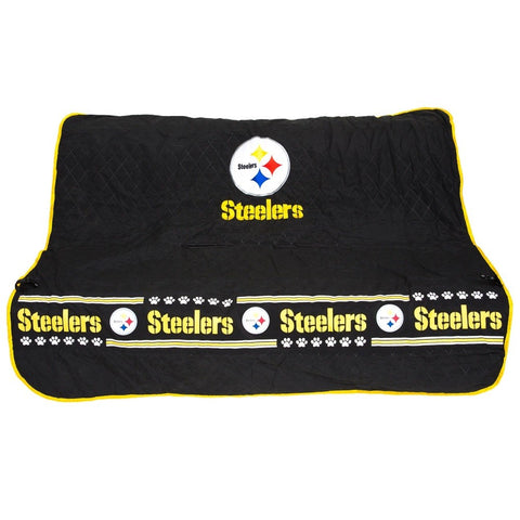 Image of Pittsburgh Steelers Pet Car Seat Cover