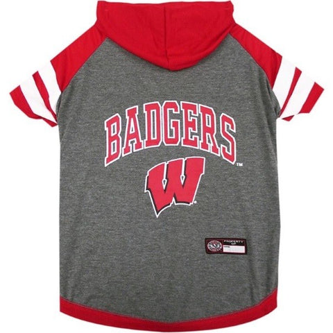 Wisconsin Badgers Pet Hoodie T-Shirt