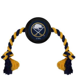 Buffalo Sabres Pet Hockey Puck Rope Toy