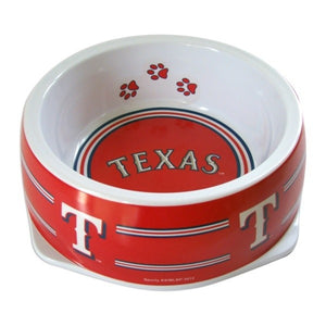 Texas Rangers Dog Bowl