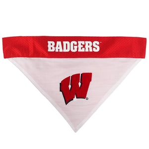 Wisconsin Badgers Pet Reversible Bandana