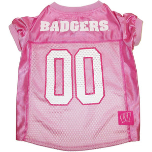 Wisconsin Badgers Pink Pet Jersey