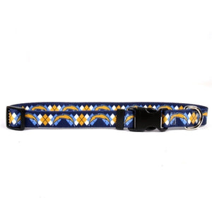 Los Angeles Chargers Argyle Nylon Collar