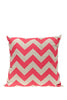 Bob Window Chevron Cushion Pink & White