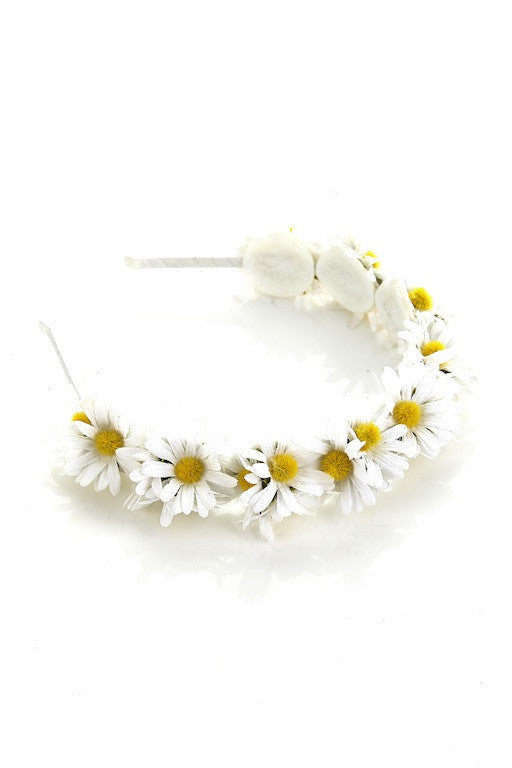 Daisy Love Headband White