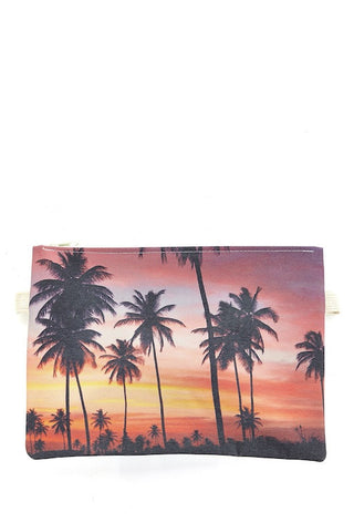 Sunset Palms Clutch