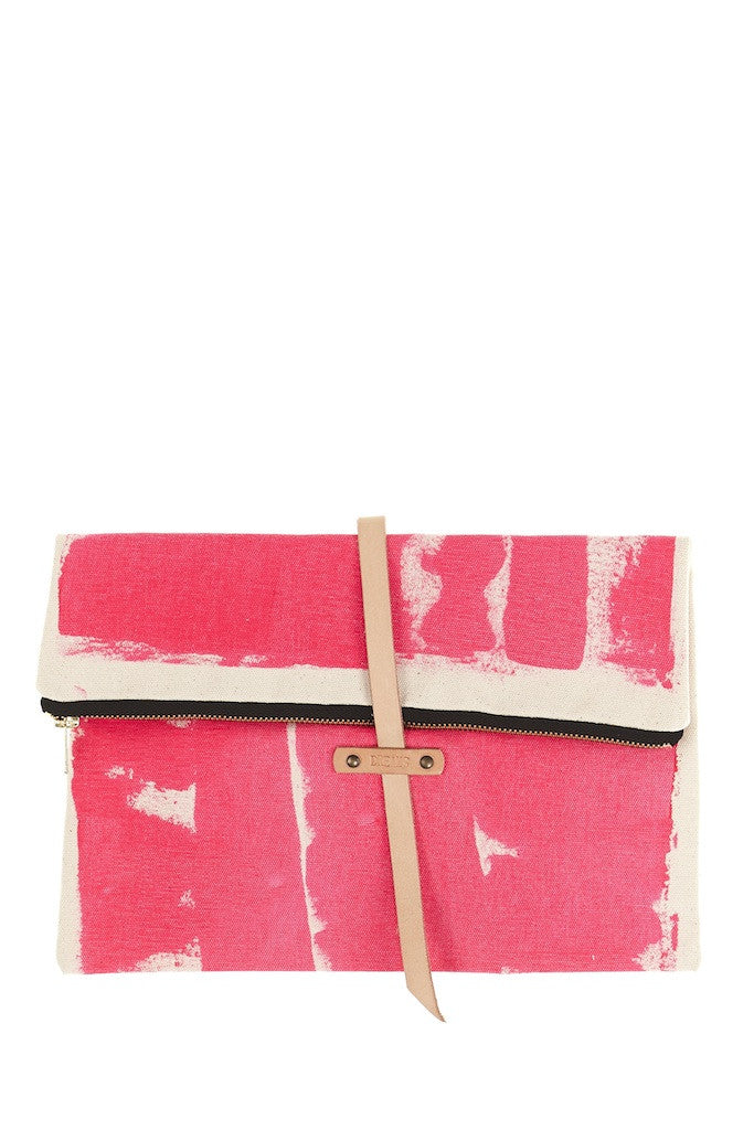Splash Fold Over Clutch Pink