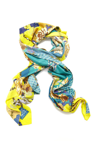 Willow Floral Silk Scarf