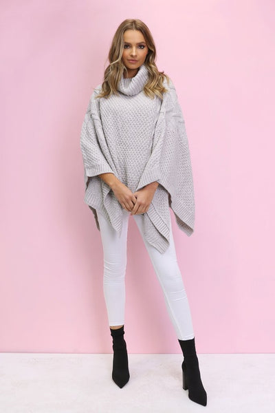 Bells Knitted Poncho