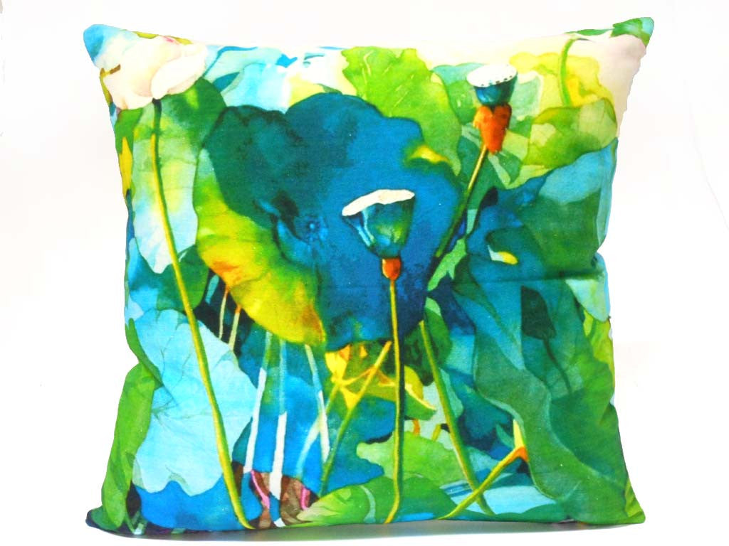 Waterlily Floral Cushion