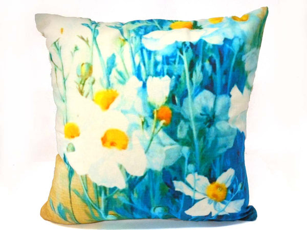 White Floral Vine Cushion