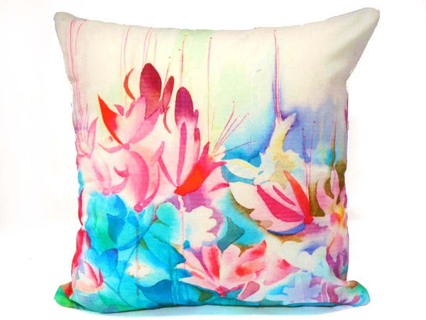 Watercolour Floral Cushion