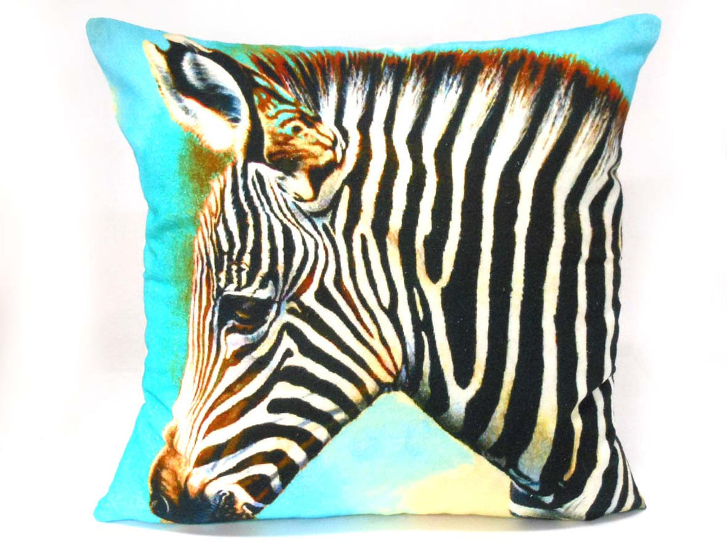 Zebra Watercolour Cushion