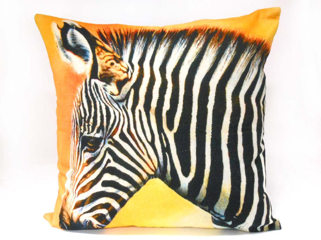 Sunset Zebra Watercolour Cushion