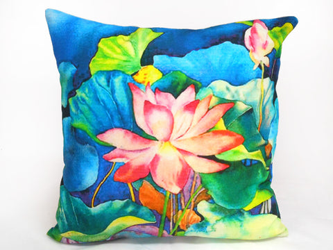 Tropical Lily Floral Cushion