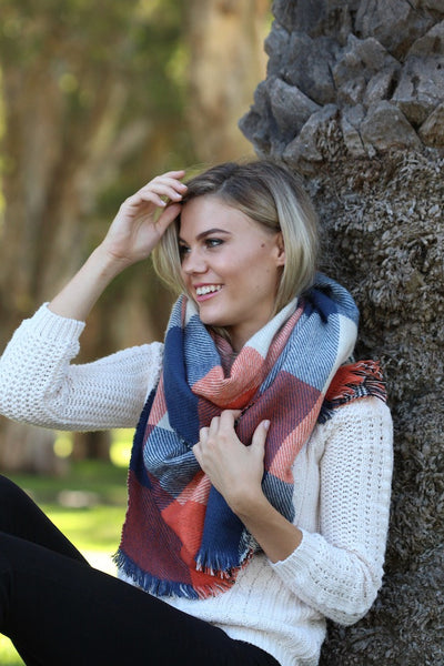 Emily Check Scarf