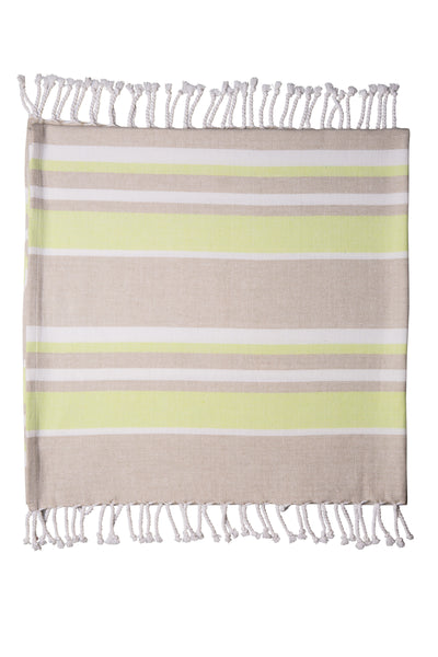 Sorrento Beach Throw Lime Taupe