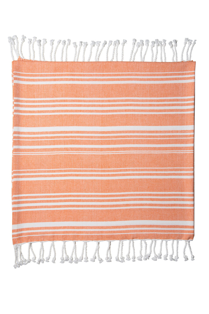 Sorrento Beach Throw Orange White