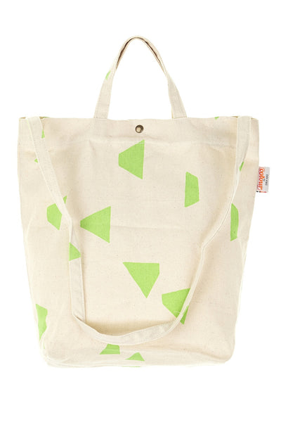 Geo Triangle Shoulder Bag Neon Green