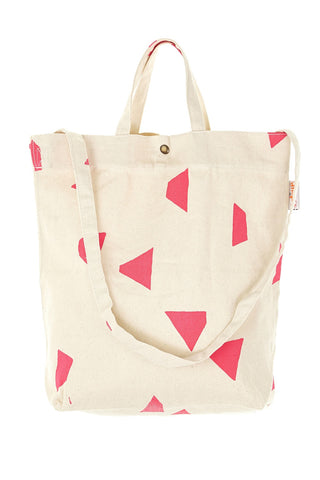 Geo Triangle Shoulder Bag Neon Pink