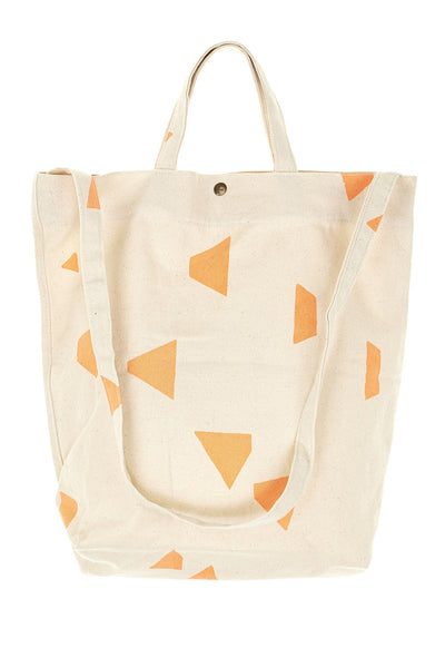 Geo Triangle Shoulder Bag Neon Orange