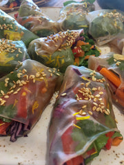 Wild Herb & Flower Summer Rolls
