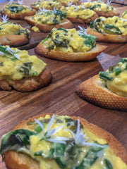 Fermented Wild Garlic Bruscetta