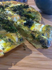 Foraged Spring Greens & Hogweed Seed Frittata