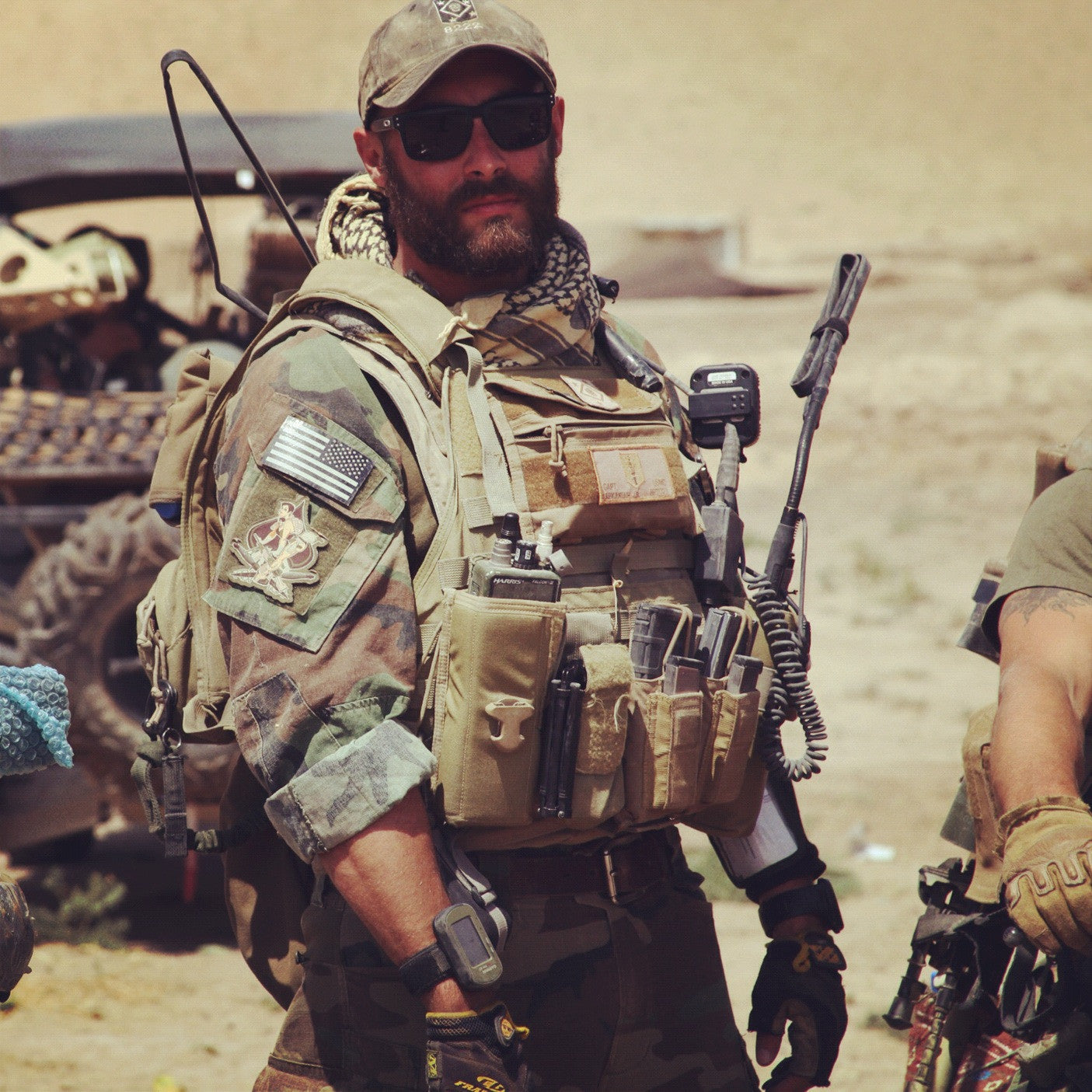 Marine Raider with beard | stubble & 'stache beard care products