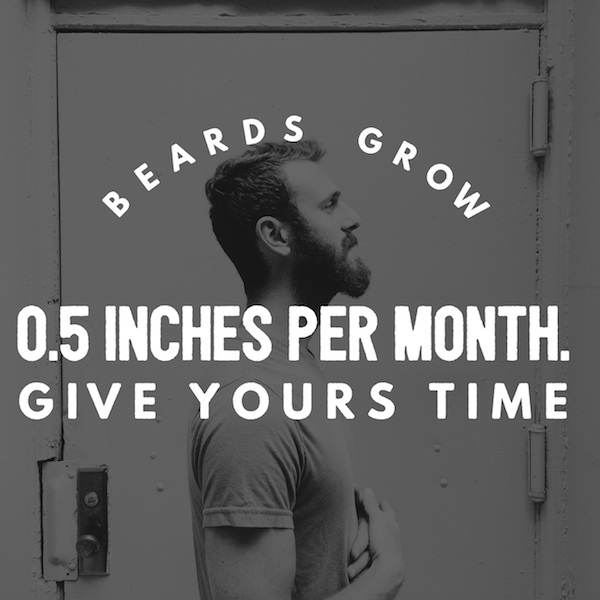 Beards grow half an inch per month | stubble & 'stache