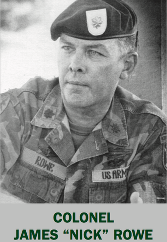 "Col James ""Nick"" Rowe sans beard. Photo credit: US Army"