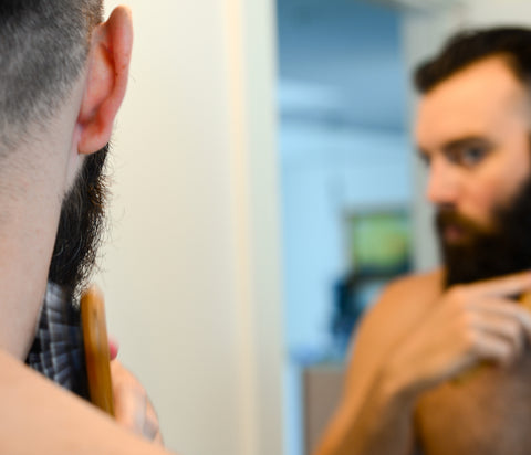 How to apply beard oil_step 7_brush and shape your beard