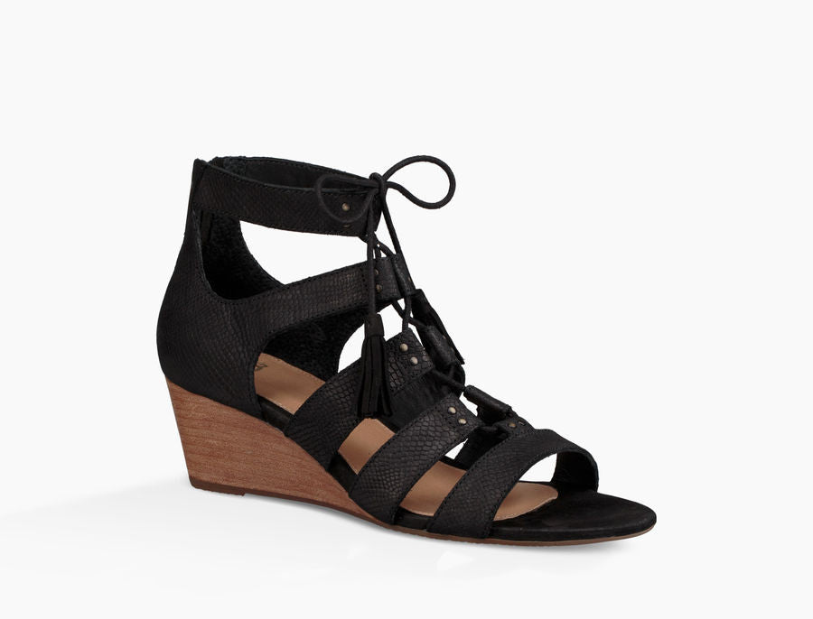 UGG Australia Women's Yasmin Snake Wedge | Black