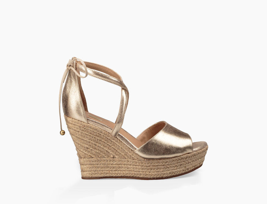 UGG Australia Women's Reagan Metallic Wedge | Gold | SALE