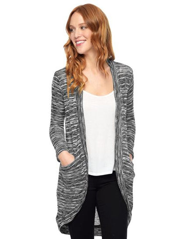 Splendid Upstate Circle Cardigan | Black | Sale