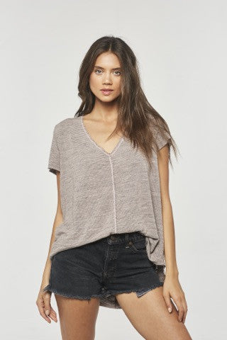 Project Social The Wearever Striped T | Cameo Rose Stripe | Grey Stripe