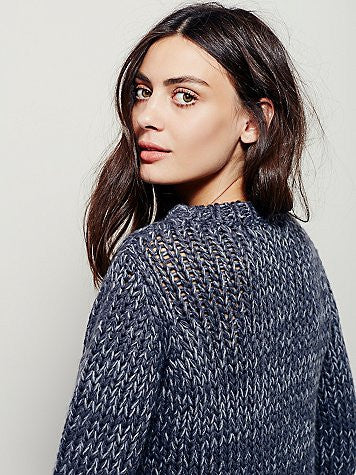 Free People Dancer & Prancer Sweater | Charcoal