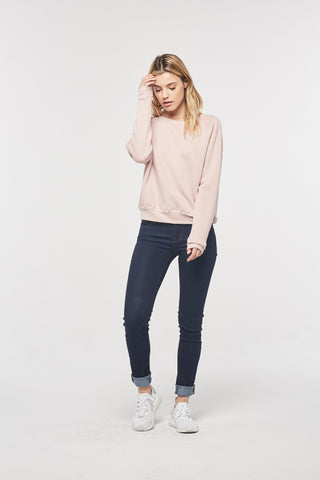 Project Social T Hudson Raglan Sweatshirt | Cameo Rose, Heather Grey